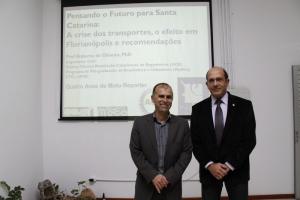 O radialista e Moto Repórter Guina e o Professor da UFSC Roberto Oliveira foram alguns dos palestrantes